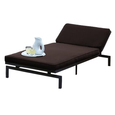 Alexa Chaise Lounge with Cushion Fabric: Bay Brown