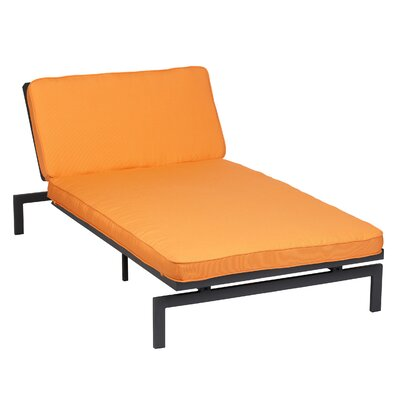 Alexa Chaise Lounge Cushion Fabric Tangerine - Product photo