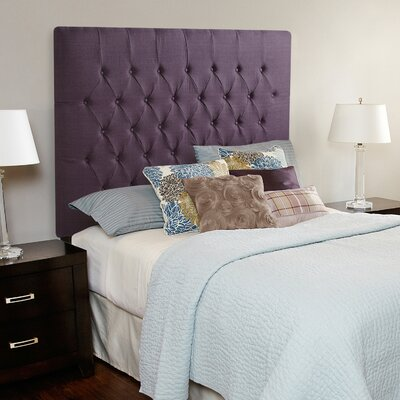 Laurent Upholstered Panel Headboard Size: Full, Upholstery: Iris Purple