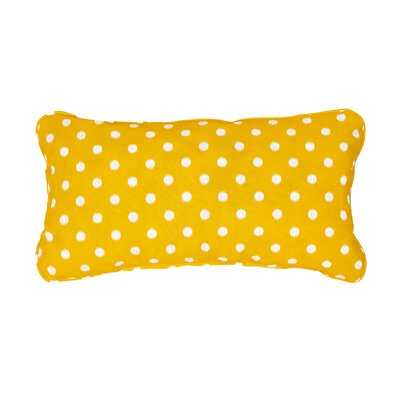 Corded Dots Outdoor Lumbar Pillow Color: Yellow, Size: 12 H x 24 W