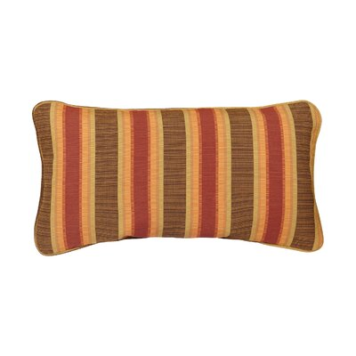 Corded Autumn Stripes Outdoor Sunbrella Lumbar Pillow Size: 12 H x 24 W