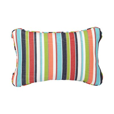 Corded Colorful Outdoor Sunbrella Lumbar Pillow Size: 13 H x 20 W