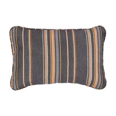 Corded Mulit-Colored Stripe Outdoor Lumbar Pillow Size: 13 H x 20 W