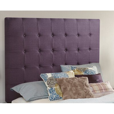 Franklin Square Linen Upholstered Panel Headboard Size: Queen, Upholstery: Iris Purple
