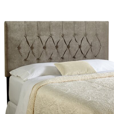 Dublin Upholstered Panel Headboard Size: Queen, Upholstery: Grey