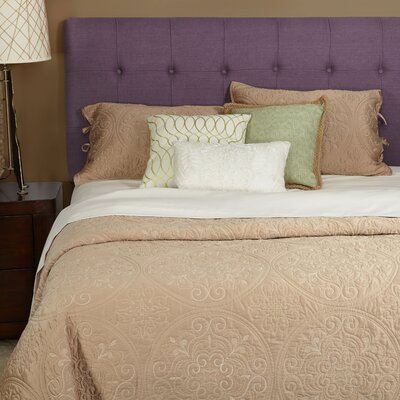 Dublin Upholstered Panel Headboard Size: King, Upholstery: Iris