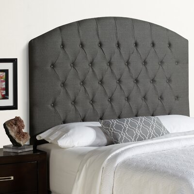 Humble and Haute Hanover Tall Curved Upholstered Headboard Size: Tall Queen, Upholstery: Grey