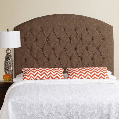 Lesa Tall Curved Upholstered Headboard Size: Tall Queen, Upholstery: Dark Chocolate