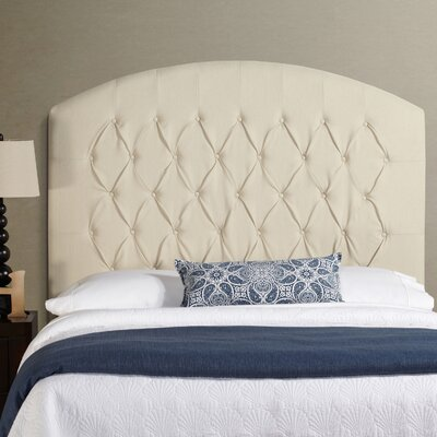Lesa Tall Curved Upholstered Headboard Size: Tall Queen, Upholstery: White