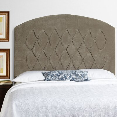Lesa Tall Curved Upholstered Headboard Size: Tall Full, Upholstery: Light Grey