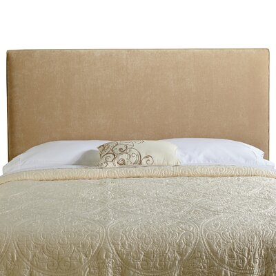 Myrtille Upholstered Panel Headboard Size: Full, Upholstery: Sand Velvet