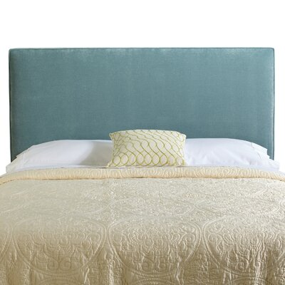 Myrtille Upholstered Panel Headboard Size: Full, Upholstery: Blue Velvet