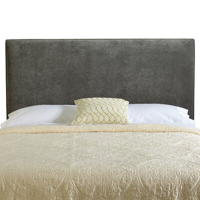 Myrtille Upholstered Panel Headboard Size: Queen, Upholstery: Grey Velvet
