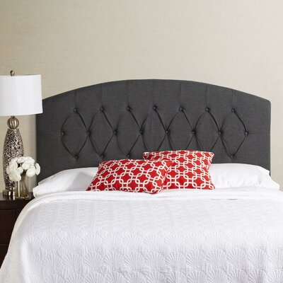 Lesa Curved Upholstered Headboard Size: Queen, Upholstery: Charcol