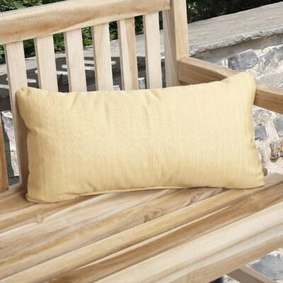 Knife Edge Indoor Outdoor Sunbrella Lumbar Pillow Color: Cornsilk