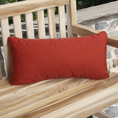 Knife Edge Indoor Outdoor Sunbrella Lumbar Pillow Color: Jockey Red