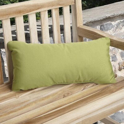 Knife Edge Indoor Outdoor Sunbrella Lumbar Pillow Color: Macaw Green