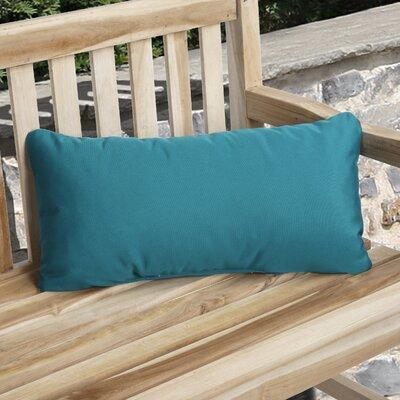 Knife Edge Indoor Outdoor Sunbrella Lumbar Pillow Color: Teal