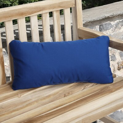 Knife Edge Indoor Outdoor Sunbrella Lumbar Pillow Color: True Blue