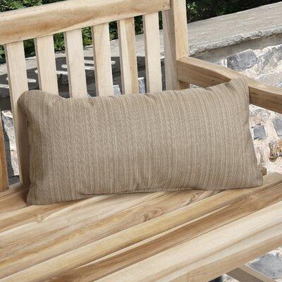 Knife Edge Indoor Outdoor Sunbrella Lumbar Pillow Color: Sand