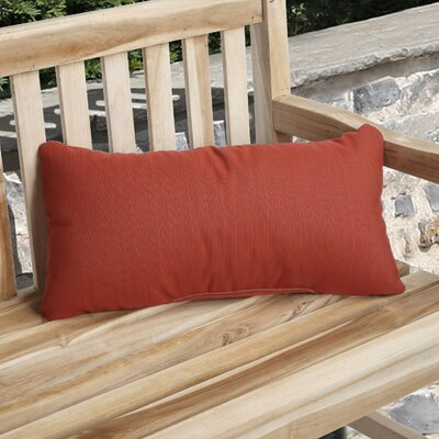 Knife Edge Indoor Outdoor Sunbrella Lumbar Pillow Color: Crimson