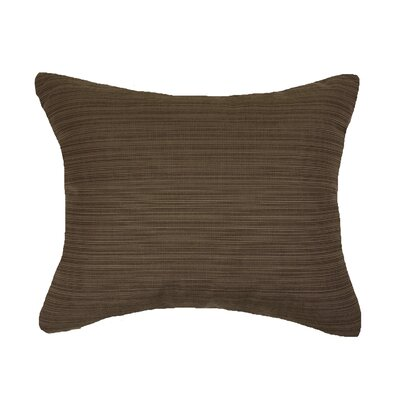 Knife Edge Indoor Outdoor Sunbrella Lumbar Pillow Color: Walnut