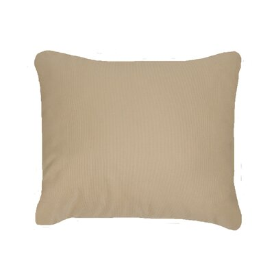 Knife Edge Indoor Outdoor Sunbrella Lumbar Pillow Color: Antique Beige