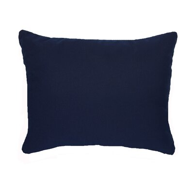 Knife Edge Indoor Outdoor Sunbrella Lumbar Pillow Color: Navy