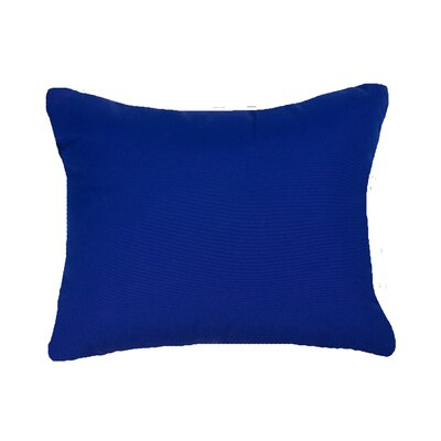 Knife Edge Indoor Outdoor Sunbrella Lumbar Pillow Color: True Blue