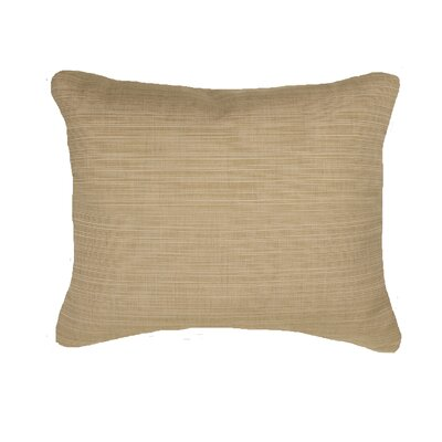 Knife Edge Indoor Outdoor Sunbrella Lumbar Pillow Color: Sand
