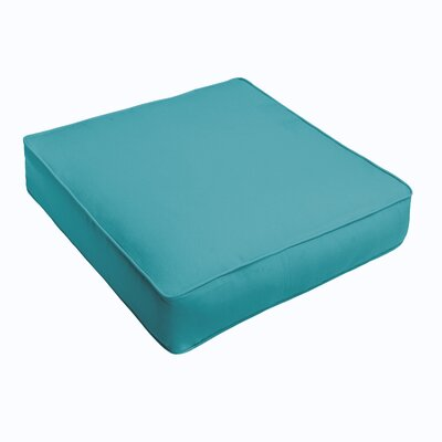 Outdoor Sunbrella Ottoman Cushion Color: Sunbrella Canvas Aruba
