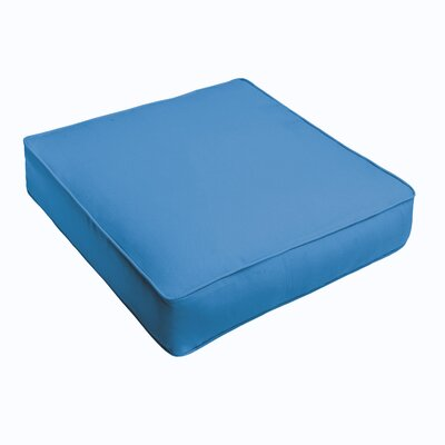 Outdoor Sunbrella Ottoman Cushion Color: Sunbrella Canvas Capri