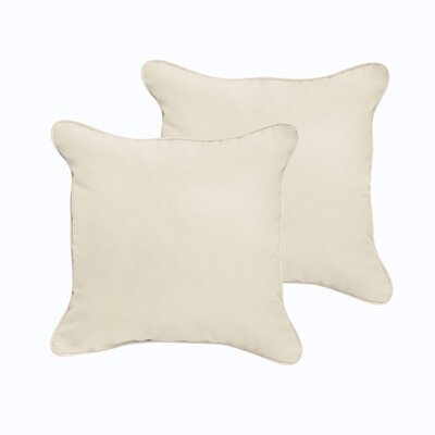 Branan Indoor/Outdoor Throw Pillow Color: Beige, Size: 18 x 18
