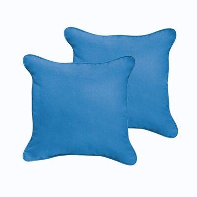Selene Indoor/Outdoor Throw Pillow Color: Light Blue, Size: 22