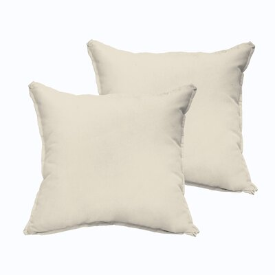 Branan Indoor/Outdoor Throw Pillow Color: Beige, Size: 22 x 22