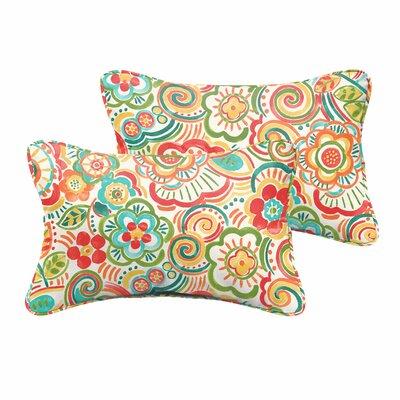 Broad Brook Indoor/Outdoor Lumbar Pillow Set Size: 13x20