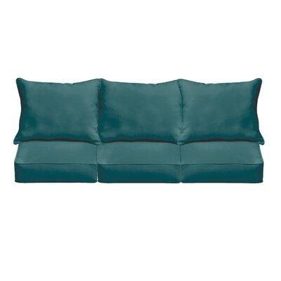 Outdoor Sunbrella Sofa Cushion Fabric: Canvas Teal