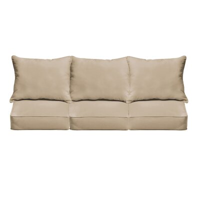 Outdoor Sunbrella Sofa Cushion Fabric: Canvas Antique Beige