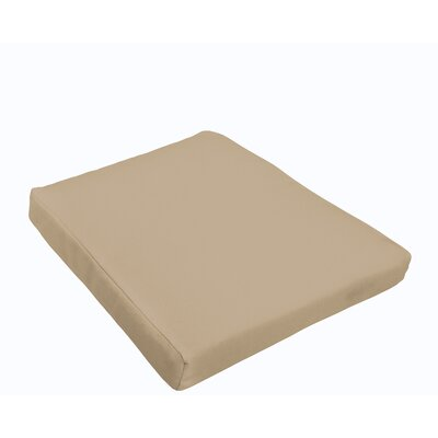 Selene Outdoor Dining Chair Cushion Color: Beige