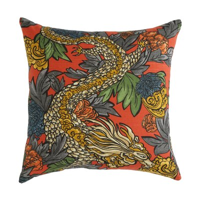 Ming Dragon Persimmon Pillow Size: 18 x 18