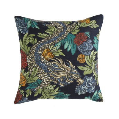 Ming Dragon Midnight Pillow Size: 18 x 18