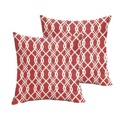 Byron Indoor/Outdoor Throw Pillow Size: 20 x 20, Color: Red
