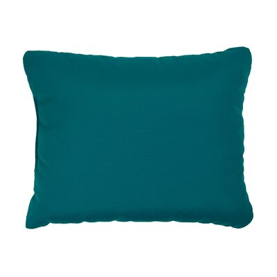 Knife Edge Indoor Outdoor Sunbrella Lumbar Pillow Color: Teal