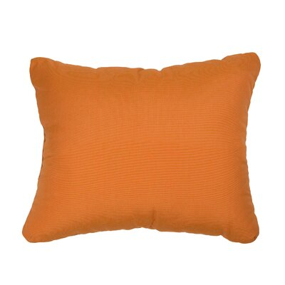Knife Edge Indoor Outdoor Sunbrella Lumbar Pillow Color: Tangerine