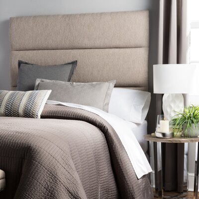 Lytle Upholstered Panel Headboard Size: Full, Upholstery: Gray