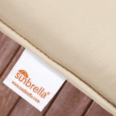 Edgard Sunbrella Dimone Sequoia Indoor/Outdoor Floor Pillow