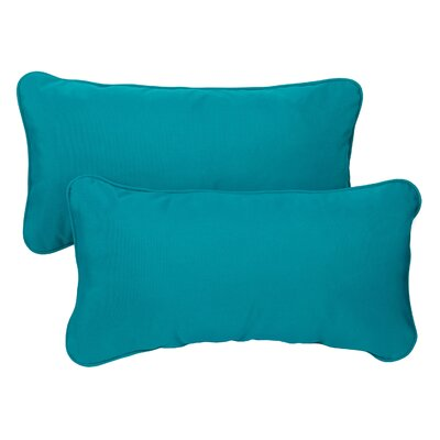 Derrytown Indoor/Outdoor Sunbrella Lumbar Pillow Size: 12 H x 24 W, Color: Teal