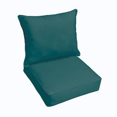 Outdoor Lounge Cushion Color: Teal