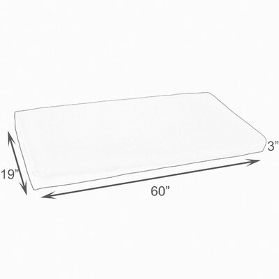 Indoor/Outdoor Bench Cushion Size: 60 W x 19 D