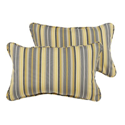 Delacruz Sunbrella Piped Lumbar Pillow Set